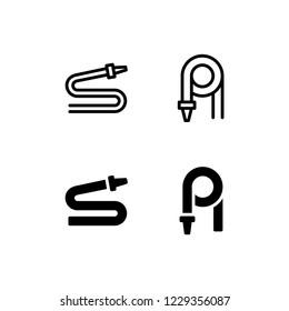 Hose Icon Logo Vector Symbol. Nozzle Icon