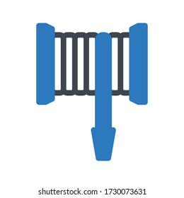 hose vector glyph color icon