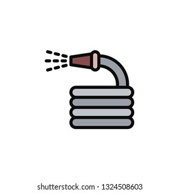 Hosepipe Icon Vector Illustration in Flat Style for Any Purpose