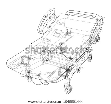 Hospital Bed Wiring Diagram Simple Electrical. Hospital Bed Sketch Vector Rendering 3 D Stock Royalty Free Plate Wiring Diagram. Wiring. Hoveround Teknique Wiring Diagram At Scoala.co