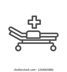 Hospital Bed Vector Icon