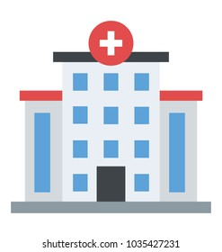 Hospital Building flat building Icon.