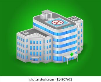 Hospital building high detailed vector