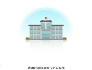 Hospital building Infographic flat design.