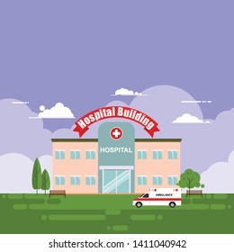 The hospital building is professional medical center, vector illustration - Vector illustration vector