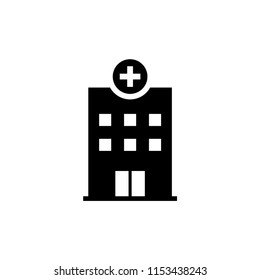 hospital building vector icon