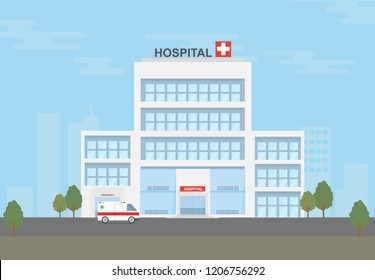 Hospital in the city.
