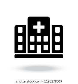 Hospital icon vector