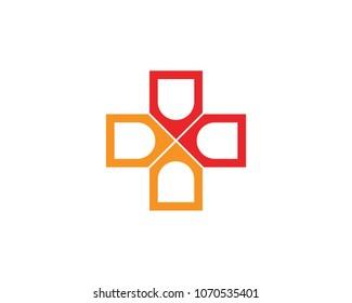 Hospital logo and symbols template icons app,
