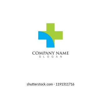 Hospital logo and symbols template icons vector health Arrow Business Industries