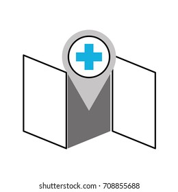 hospital pharmacy pointer on map location icon