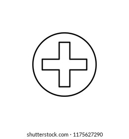 hospital sign icon. Element of medicine icon for mobile concept and web apps. Thin line hospital sign icon can be used for web and mobile on white background