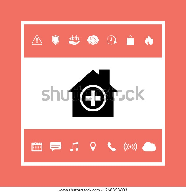 Hospital Symbol Icon Graphic Elements Your Stock Vector