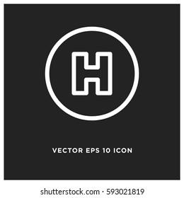 Hospital vector icon