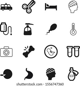 hospital vector icon set such as: embryo, ambulance, instrument, thermometer, icons, service, washing, logos, vehicle, holiday, van, drawing, graphic, pregnant, pictogram, test, heat, vial, scale