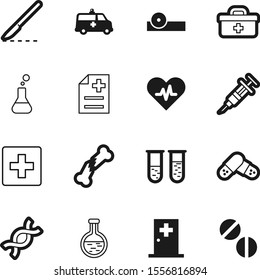 hospital vector icon set such as: occupation, hand, police, eye, concept, healthcare, injury, break, case, van, office, vehicle, stem, dna, briefcase, needle, optometry, strong, tube, ophthalmologist