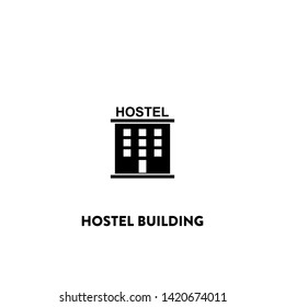 hostel building icon vector. hostel building sign on white background. hostel building icon for web and app