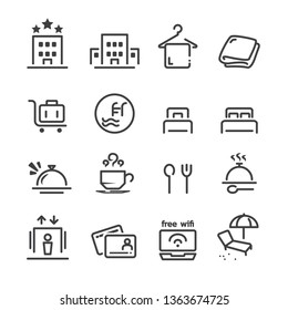 hostel and hotel icon set1