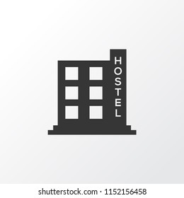 Hostel icon symbol. Premium quality isolated hotel element in trendy style.