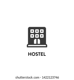 hostel icon vector. hostel vector graphic illustration