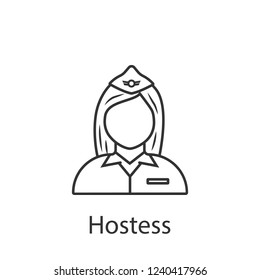 Hostess icon. Element of profession avatar icon for mobile concept and web apps. Detailed Hostess icon can be used for web and mobile