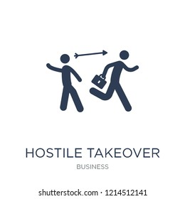 Hostile takeover icon. Trendy flat vector Hostile takeover icon on white background from Business collection, vector illustration can be use for web and mobile, eps10