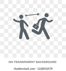 Hostile takeover icon. Trendy flat vector Hostile takeover icon on transparent background from Business  collection. High quality filled Hostile takeover symbol use for web and mobile