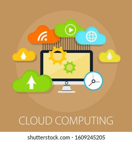 hosting cloud icon, cloud computing technology, web network symbol - server connection sign