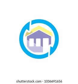 Hosue Sync Logo Icon Design