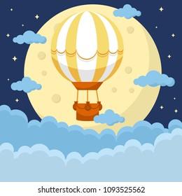 Hot air ballon in the sky