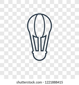 Hot air balloon concept vector linear icon isolated on transparent background, Hot air balloon concept transparency concept in outline style
