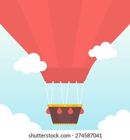 Hot Air balloon . Flat design