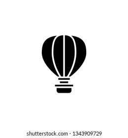 hot air balloon glyph icon