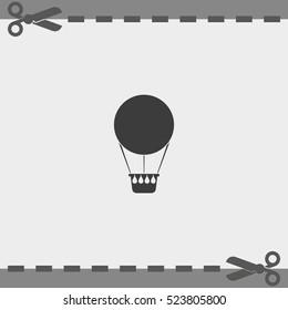 Hot air balloon icon.