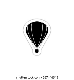 Hot air balloon icon on a white background with shadow
