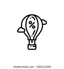 Hot Air Balloon Icon Outline Vector. Holiday Sale Icons. Online Shop Ikon.
