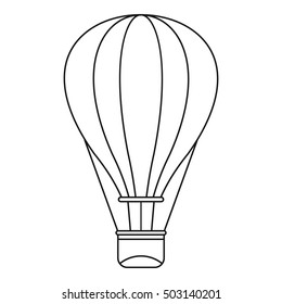 Hot air balloon icon. Outline illustration of baloon vector icon for web design