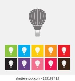 Hot air balloon icon - Vector