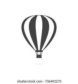 Hot air balloon icon vector transparent