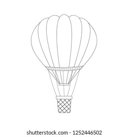 Hot air balloon icons. Summer vector illustration. Isolated.