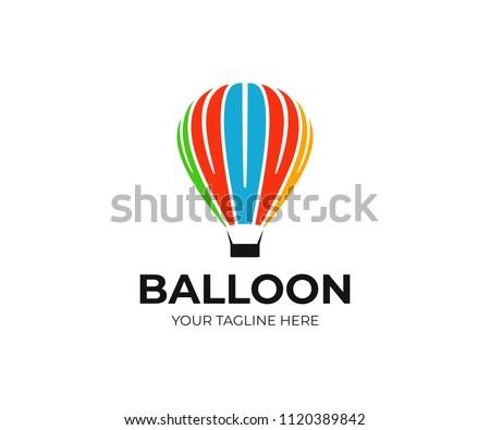 Hot Air Balloon Logo Template Ballooning Stock Vector (Royalty Free ...
