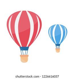 Hot air balloon in the sky. Air balloon vector