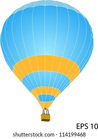 Hot Air Balloon Vector, EPS 10.