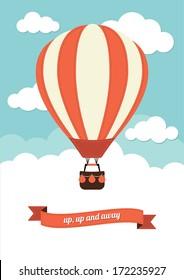 Hot Air Balloon Vector Graphic