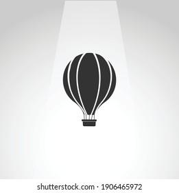 hot air balloon vector icon, hot air balloon simple isolated icon