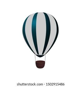 Hot air balloon vector illustration.