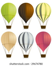 Hot air balloons 2 - vector