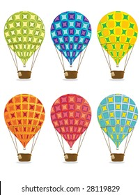 Hot air balloons - vector