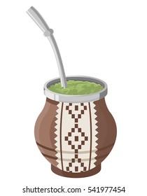 hot beverage argentinian yerba mate tea