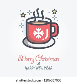 hot beverage vector icon
